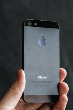 Back of an iPhone 5